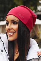 Женская трикотажная шапка чулок стразы DIOR разные цвета