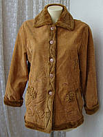 Дубленка женская нарядная декор вышивка бренд Legrenier р.50-52 4085