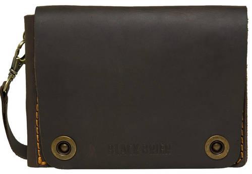 Дорожное вместительное портмоне на кнопках из натуральной кожи Black Brier ТК-3-33Р коричневый