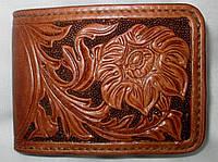 Портмоне кожаное ручной работы