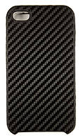 Чехол-накладка для Apple iPhone 4/4S, карбон, черный /case/кейс /айфон