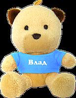 Плюшевый медвежонок с именем Влад