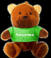 Плюшевый медвежонок с именем Людочка