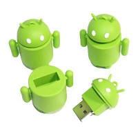 Флеш накопитель 8GB, USB 2.0, фигурка Android