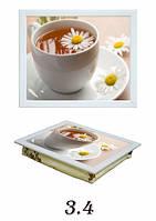 Поднос с подушкой чай с ромашкой