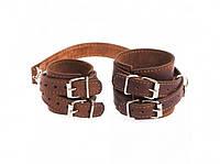 Кожаный браслет для пар коричневый
