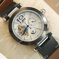 Яркие мужские наручные часы Cartier de cartier Silver/White 511