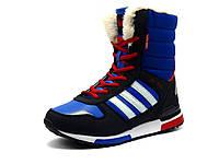 Кроссовки зимние, на меху, X-Time, высокие, синие, фото 1