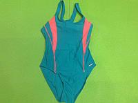 Купальник спортивный для плавания (бирюзовый) для девочек ростом 164 см.