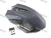 Беспроводная игровая мышь мышка Gamer, синяя