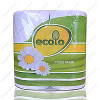 Туалетная бумага Ecolo 4 шт/уп. 2 слоя.