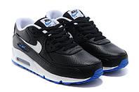 Кроссовки мужские Nike Air Max 90 Premium (найк аир макс 90, оригинал) черные
