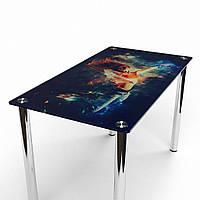 Стол обеденный из стекла модель Фотопечать