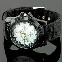 Часы стильные Swiss Army (белый циферблат)