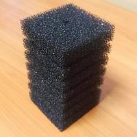Фильтрующая губка/мочалка 10x10x15 cм, прямоугольная крупнопористая.