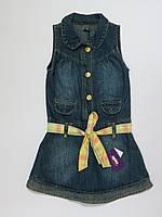 Джинсовый сарафан/платье для девочек Турция 110-140р