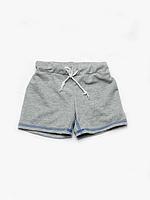 Детские шорты для мальчика серые (поло)   03-00510-1МК