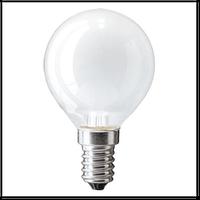 """Лампа накаливания """"Electrum"""" шар G45 40W E14 матовая"""