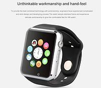 Умные часы (часофон) Smart W8 (A1) с подключением к iOs и Андроид, экран 1.54 дюйма, шагомер, слот MicroSD