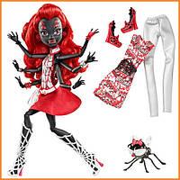 Кукла Monster High Вайдона Спайдер (Вебарелла-Webarella) из серии Power Ghouls Монстр Хай