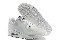 Кроссовки мужские Nike Air Max 90 Hyperfuse USA (найк аир макс 90, оригинал) белые