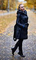 Пальто с капюшоном из плащевки на синтепоне 08164