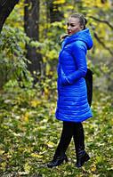 Пальто с капюшоном стеганное  на синтепоне в трех расцветках 08164