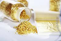 Пищевое золото хлопья(фракционное) 250мг. (код 04506)