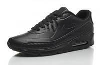 Кроссовки мужские Nike Air Max 90 First Leather  (найк аир макс 90, оригинал) черные