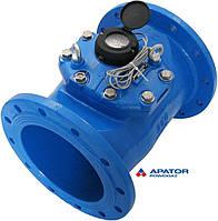 Водосчетчик Apator PoWoGaz MWN-250-NK (ХВ) с импульсным выходом турбинный Ду-250 сухоход промышленный
