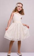 Праздничное платье с бантом Sofia Shelest, лето, праздничное
