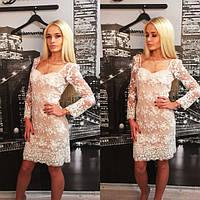 Женское вечернее платье с кружева + большие размеры