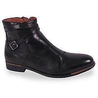 Мужские ботинки (натуральная кожа, на меху, черные, теплые, косотини, класические)