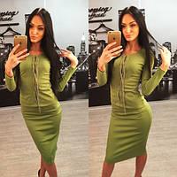 Женский модный костюм: кофта и юбка + большие размеры (расцветки)