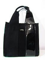Замшевая сумочка черного цвета от фирмы Voee Vodd