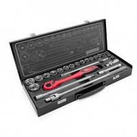 """Профессиональный набор инструмента 1/2"""", 25 ед (гол. 10-32 мм) INTERTOOL ET-6025"""