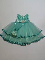 Нарядное пышное платье для девочек Турция 3года