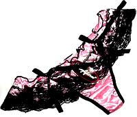 Трусики - бикини с рюшами 48-52 розовые