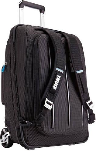 Оригинальный малый чемодан-рюкзак 2 в 1, 38 л. на 2-х колесах Thule Crossover (TCRU-115) 3201502 черный