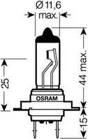 Автолампа H7  галогеновая 55W Osram 64210 Night Breaker Unlimited