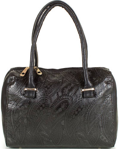 Прочная женская сумка из качественного кожезама МІС MS351022-black (черный)