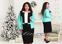 Платье женское утягивающий структурный трикотаж  Размеры 50 52 54 56