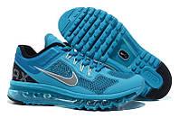 Кроссовки мужские Nike Air Max 2013 GL (найк аир макс, оригинал) голубые