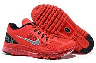 Кроссовки мужские Nike Air Max 2013 (найк аир макс, оригинал) красные