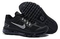 Кроссовки мужские Nike Air Max 2013 (найк аир макс, оригинал) черные