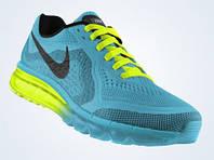 Кроссовки мужские Nike Air Max 2014 (найк аир макс, оригинал) голубые