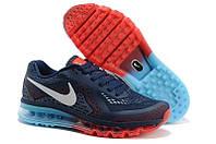 Кроссовки мужские Nike Air Max 2014 (найк аир макс, оригинал) синие