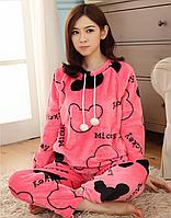 Микки маус,теплая пижама,фланель