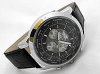 Мужские часы BREITLING 1884 кварцевые, корпус серебристый, циферблат черный