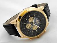 Мужские часы BREITLING 1884 кварцевые, корпус золотистый, циферблат черный